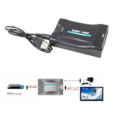 1080P Scart To HDMI Video Audio Upscaler Converter Adapter For HD TV DVD Sky Box