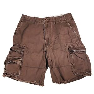 Duck Head Cargo Shorts Thick Dark Brown Outdoor Summer Casual Many Pockets 32