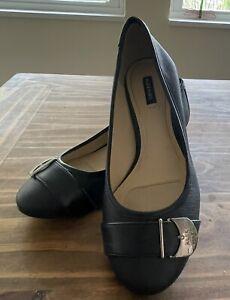 Alex Marie Womens Shoes Black Size 7M Low Heel Worn Twice Excellent Condition