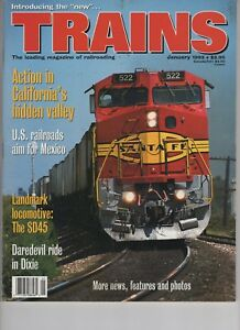 Trains Magazine Railroading January 1993 Santa Fe Daredevil Ride Mexico