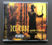 ICE CUBE - War & Peace Vol 1 (The War Disc) CD VG+ Holographic Limited Cover
