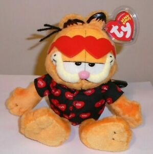 Ty Beanie Baby - GARFIELD the Cat (Happy Valentine's Day) MINT with MINT TAGS