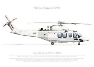 AGUSTAWESTLAND AW139 31756 VH-YBF ADF 2021 - A3+ Profile Print