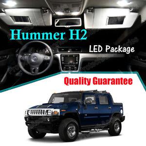 White Interior LED Lights Bulbs Package Kit for 2003 - 2007 2008 2009 Hummer H2