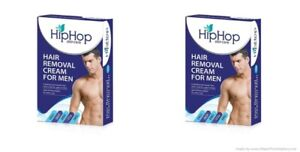 2 x 100 gm Hip Hop Men's Hair Removal Cream (For Arms, Legs, Chest Ears & Body)