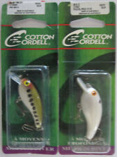 """2 - COTTON CORDELL Big O Lure - 2"""" - Pearl/Red Eye & Baby Bass"""