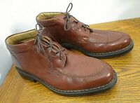 BACCA BUCCI Brown Leather Lace Up Ankle Boots Size 12 Made in Italy