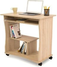 Computertisch Schreibtisch Bürotisch Arbeitstisch mit Stauraum Fach und Rollen