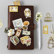 45Pcs Vintage Gold Silver Stickers Scrapbooking Hollow Label Travel Life Decal