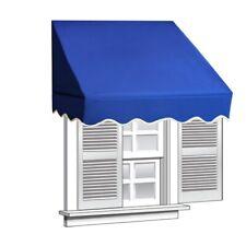 ALEKO Window Awning Door Canopy Decorator 6x2ft Sun Rain Shade Shelter Blue