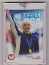 RAREST 2016 TOPPS OLYMPIC KATIE MEILI 1/1 CARD ~ USA SWIMMING ~ SWEETHEART