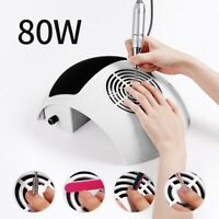80W Nail Art Vacuum Fan Cleaner Salon Suction Dust Collector Manicure Machine