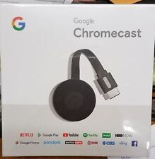 Google Chromecast (2nd Generation) Media Streamer - Black Dec 2017