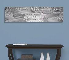Silver Contemporary Metal Wall Art Panel - Modern Abstract Decor by Jon Allen