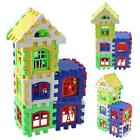 24Pcs Children Kid Puzzle Educational Building Blocks Bricks Toy House Plastic