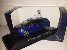 Norev Peugeot 308 SW GT bleu magnetic échelle  1/43 en boite vitrine et surboite