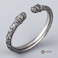 VIKING BRACELET BORRE STYLE WITH DRAGON HEADS ARM RING VIKING'S JEWELRY PEWTER