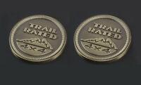 2x Trail Rated 4*4 3D Emblem auto aufkleber Badge car Sticker Braun Trail Rated