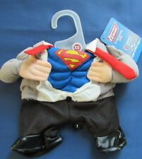 Superman DC Comics Superhero XS Dog Pet Gray Halloween Costume & Glasses New