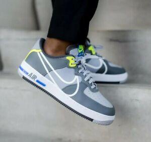 Nike Air Force 1 React Women's Shoe - GS UK 5 EU 38 Wolf Grey, Volt (Authentic)