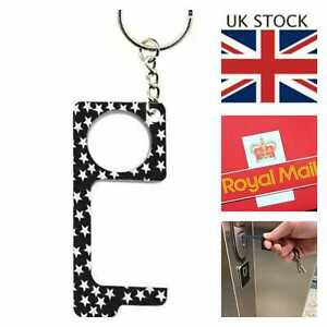 Contactless Hand Hygiene Antimicrobial Zinc EDC Door Opener Key Chain Non Touch