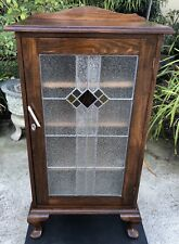 Antique/Vintage Leadlight Music Cabinet with Cabriole Legs