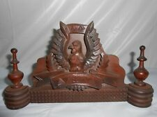 Vintage PEDIMENT Carved Wood AMERICA EAGLE~AMERICAN FOLK ART~Architectural
