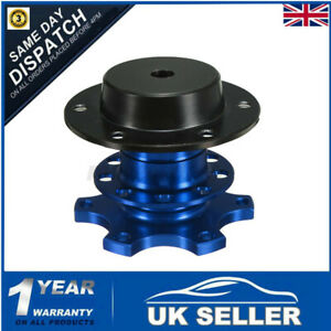 Quick Release Racing Adapter Snap Off Steering Wheel Boss Kit Hub Rally Blue