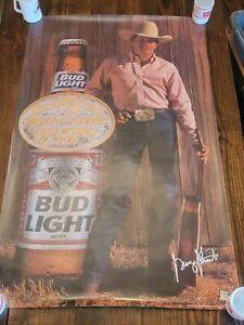 George Strait Original 1995 Bud Light Beer Poster 28x45