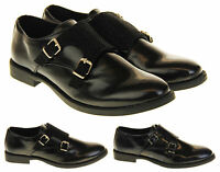 Womens Ladies Keddo Leather Buckle Formal Office Work Monk Shoe Size 3 4 5 6 7 8