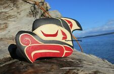 Northwest coast First Nations native wood Art carved OWL Indigenous wall art,