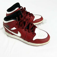 Air Jordan 1 Mid Retro Chicago Gym Red White Black Shoes 554725 605 Size 6y