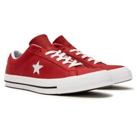 Converse One Star Ox Leather Red White 158466C Mens Casual Sneakers
