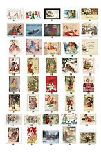 Personalized Return Address Vintage Christmas Labels Buy 3 get 1 free (cs2)