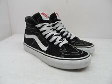 VANS Women's Sk8-Hi Skateboarding Casual Shoes Black/White Size 7M