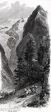 SUL PASSO DELLO STELVIO. Alpi Retiche, tra Valtellina e Val Venosta. Tirolo.1878