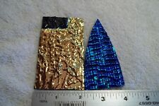 Lot of 2 Dichroic Glass Piece Fusing 96 COE Jewelry Dichromagic