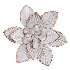 White Wash Metal Flower Wall Art Floral Circolo Boho Home Garden Sculpture