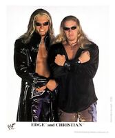 WWE EDGE AND CHRISTIAN P-560 OFFICIAL LICENSED 8X10 PROMO PHOTO VERY RARE