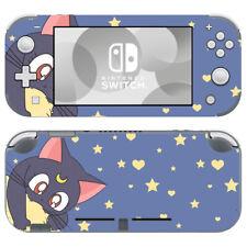 Nintendo Switch Lite Console Skin Sticker Decals Sailor Moon Luna Cat Cute Anime