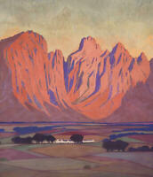 JACOB HENDRIK PIERNEEF : Cape Farmlands : 1930  : Archival Quality Art Print