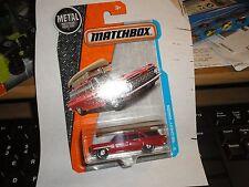 MATCHBOX '59 Chevy BROCKWOOD Wagon #1 Red 2017 Matchbox CANOE ON TOP