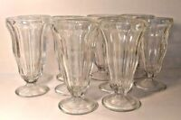 "Anchor Hocking Glass Parfait / Soda Tumblers 6.75"" Vintage 10.5oz set of 4"