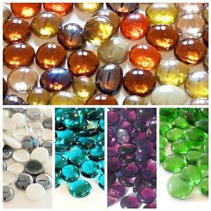 Decorative Round Glass Pebbles / Stones **Choice of Colours & Quantities**