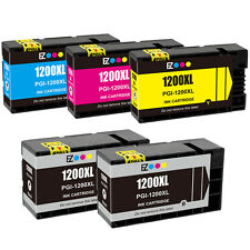 5PK PGI-1200XL 1200XL Black & Color Ink Cartridge for Canon MAXIFY MB2320 & More