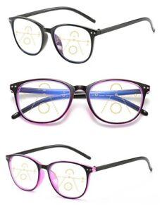 Seamless Multifocal Bifocal Reading Glasses with Anti Blue Light Blocking Lenses