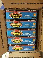 1991 Topps Stadium Club SERIES 2 Wax Box-36  Packs Jeff Bagwell RC Lot of 5 FASC