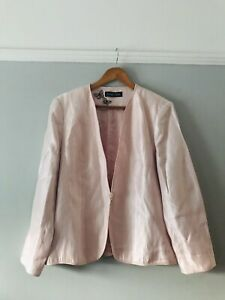 Jacques Vert Size 18 Stunning Long Sleeved Jacket Ideal Wedding Special Occasion