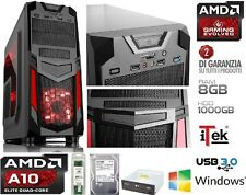 PC DESKTOP QUAD CORE A10 6800K 4GHz AMD VGA RADEON RAM 8GB HD 1TB GAMING INVADER