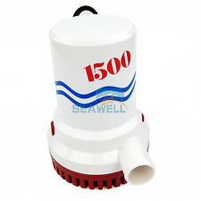12V 1500 GPH Bilge Pump Marine Water Sump Pump Boat Yacht Submersible Water Pump